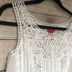 Sundance White Lace Sleeveless Top